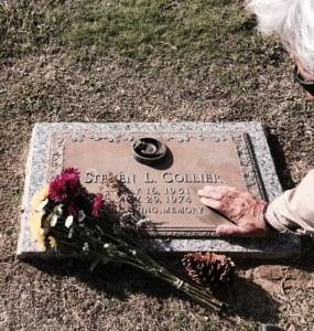 HandAt Steve's grave
